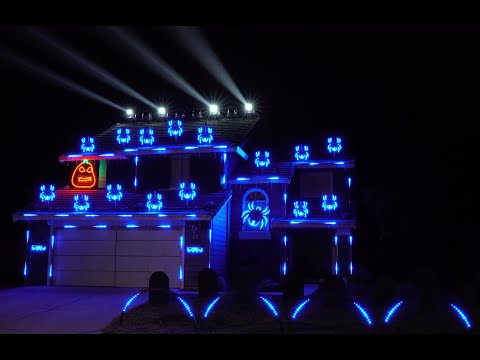 JT - Awesome Halloween Light Show