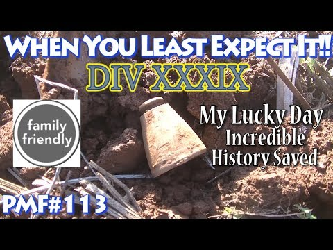 PMF#113 Lucky Day Metal Detecting DIV XXXIX in Virginia Awesome Finds 2017 Video