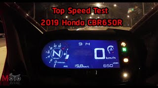 Top Speed Test 2019 Honda CBR650R
