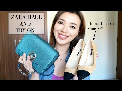 071e642339 ZARA HAUL AND TRY ON   CHANEL INSPIRED SHOES??? - YouTube