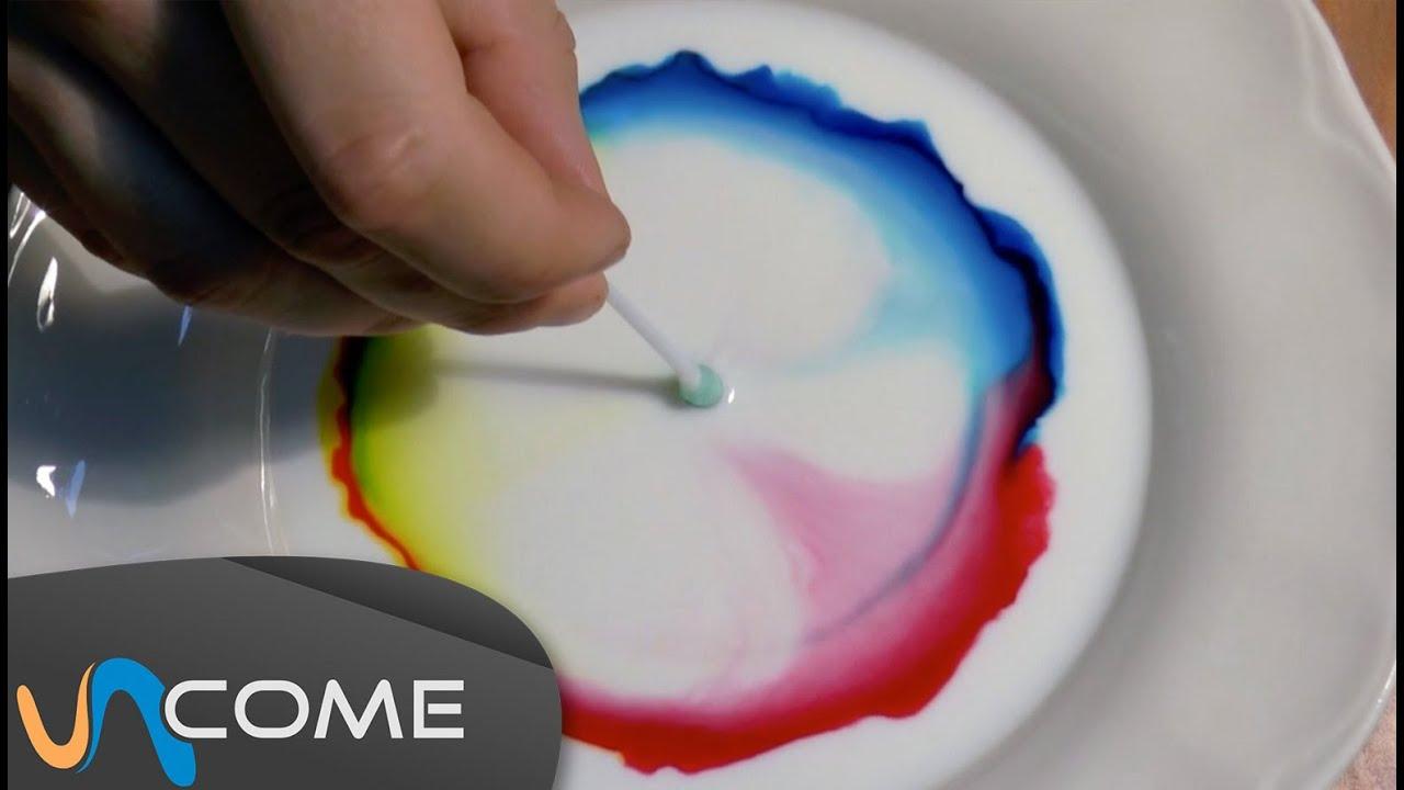 spesso Esperimento con latte e coloranti - YouTube IY66