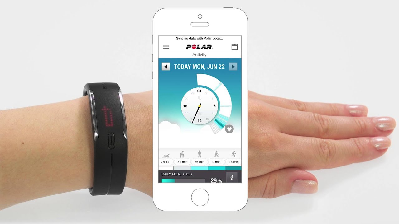 how to sync polar loop watch
