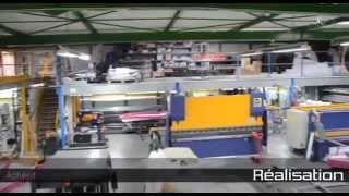 Visite de l'usine de fabrication d'enseignes de Saint Thibaut (77) d'EXO SIGNS