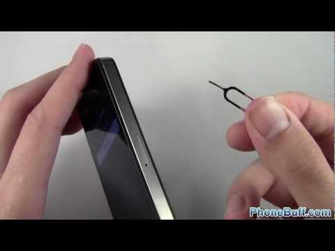 How To Open The Sim Card Door On The Iphone