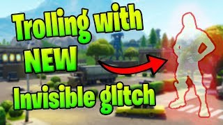 Trolling kids with *NEW* invisible glitch on fortnite playgrounds