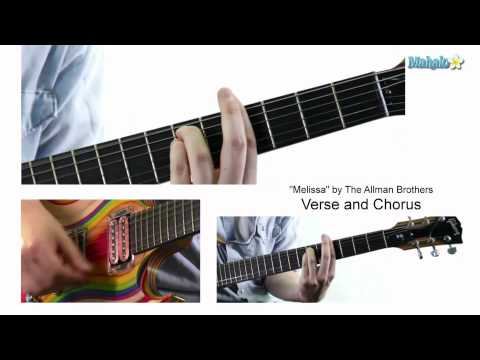 """Lesson 31: """"Melissa"""" by Allman Brothers on Guitar"""