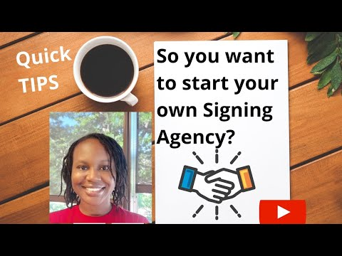 WANT TO START YOUR OWN SIGNING AGENCY? Illinois Notary.