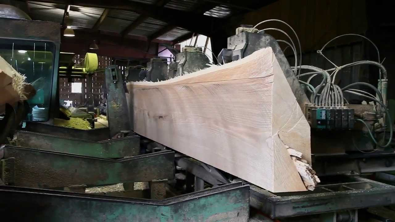 How to saw large timbers for building wooden boats at a ...