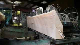 How To Saw Large Timbers For Building Wooden Boats At A Sawmill