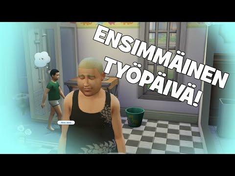 SIMS 4 Suomi: ENSIMMÄINEN TYÖPÄIVÄ! #3