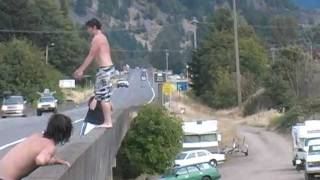 Cliff Jumping Fail