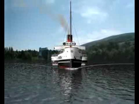 Computer Animation - Maid of the Loch Paddle Steamer