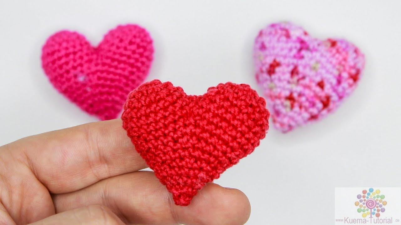 ❤ DIY ❤ Amigurumi 3D Herz Häkeln Anhänger| Deko | Geschenk - YouTube
