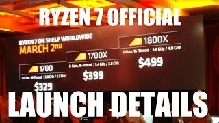 AMD RYZEN 7 OFFICIAL LAUNCH