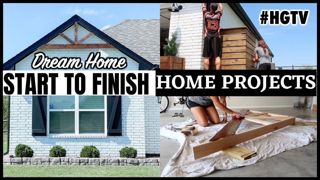 MODERN FARMHOUSE UPDATES ON A BUDGET | START TO FINISH HOME PROJECT | DIY DECORATIVE GABLE