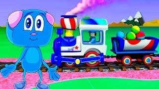 Развивающие мультики про поезда и паровозики все серии подряд
