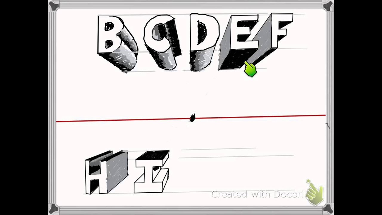 Block Letters In One Point Perspective By Jason Gilmore