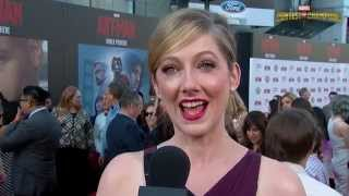 Judy Greer On the Ant-Man Red Carpet