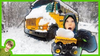 Monster Truck Abandoned School Bus Rescue Mission
