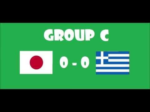 Fifa World Cup 2014 - Group C - Japan VS Greece