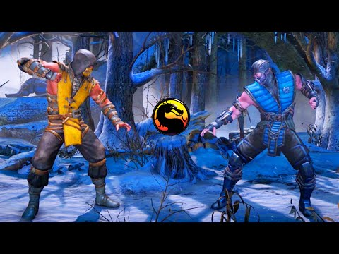 MY BROTHER PLAYS MKX FOR THE FIRST TIME - Mortal Kombat X Scorpion & Sub Zero Gameplay