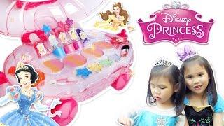 [小佳姐姐]迪士尼公主彩妝車玩具 魔法化妝玩具組