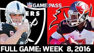 Raiders vs. Buccaneers Week 8, 2016 FULL game
