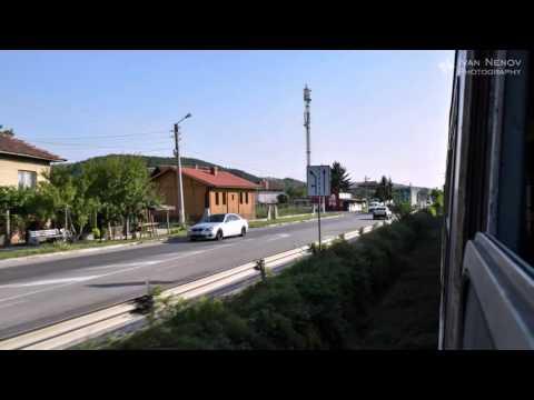 Timelapse - train travelling Sofia - Blagoevgrad, Bulgaria