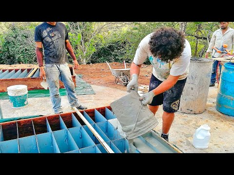 Видео: Это Гениально! Построили Дом из Цемента и Средства для Мытья Посуды своими руками!