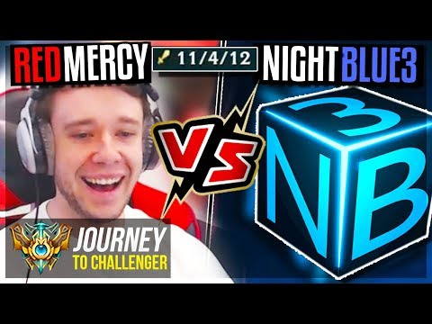 FOUND NIGHTBLUE3 IN SOLO Q!! SHOWDOWN TIME - Journey To Challenger | League of Legends thumbnail