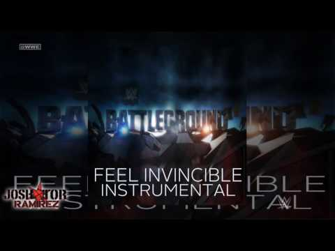 WWE: Feel Invincible (Battleground 2016 Instrumental-Karaoke) - DL with CustomCover