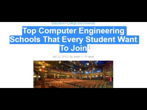 Top Computer Engineering Schools That Every Student Want To Join
