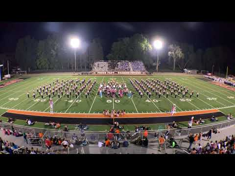 Howland Tiger Marching Band 2019 at Howland High School Band Night