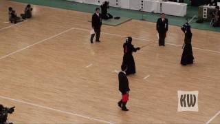 2009 All Japan Kendo Championships - Quarter-Finals - Harada vs. Takasaka
