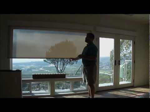 Qmotion shades 3 blind mice window coverings for Motorized blackout shades with side channels