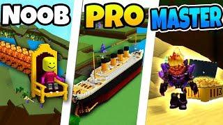 Costruisci una barca NOOB vs PRO vs MASTER! Roblox