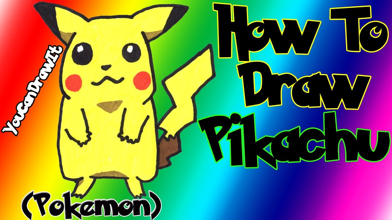 Download How To Draw Pikachu from Pokemon ✎ YouCanDrawIt ツ