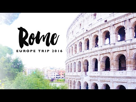 Rome | Europe Travel Vlogs 2016 | Isabel Velazquez