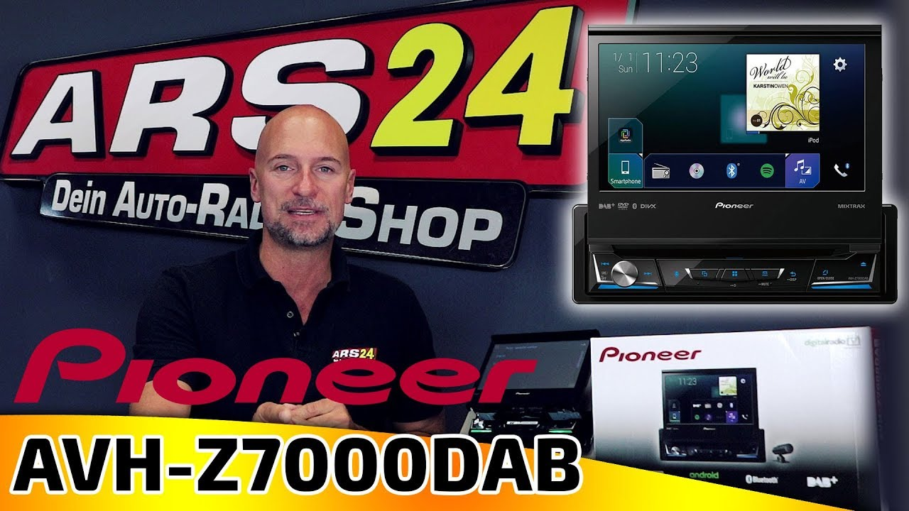 pioneer avh z7000dab 1 din autoradio mit ausfahrbarem. Black Bedroom Furniture Sets. Home Design Ideas