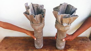 how to make a flower pot cement | flower pot making at home