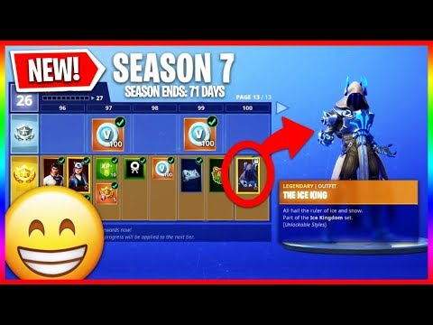 All Season 7 Battle Pass Items Unlocked! - Tier 100 Rewards & Upgrades (New Skins & Wraps)