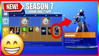 All Season 7 Battle Pass Items Unlocked! - Tier 100 Rewards & Upgrades (New Skins & Wraps)