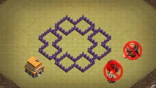 Clash Of Clans Town Hall 5 Defense Coc Th5 Trophy Base Layout