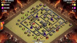 20161101 Clash Of Clans LageLanden TH9 GoVaHoBo 3 Star Attack Strategy roy