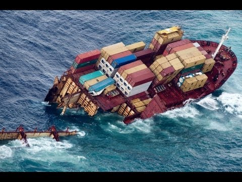 Ship Rena Grounding - Accidents of ships series