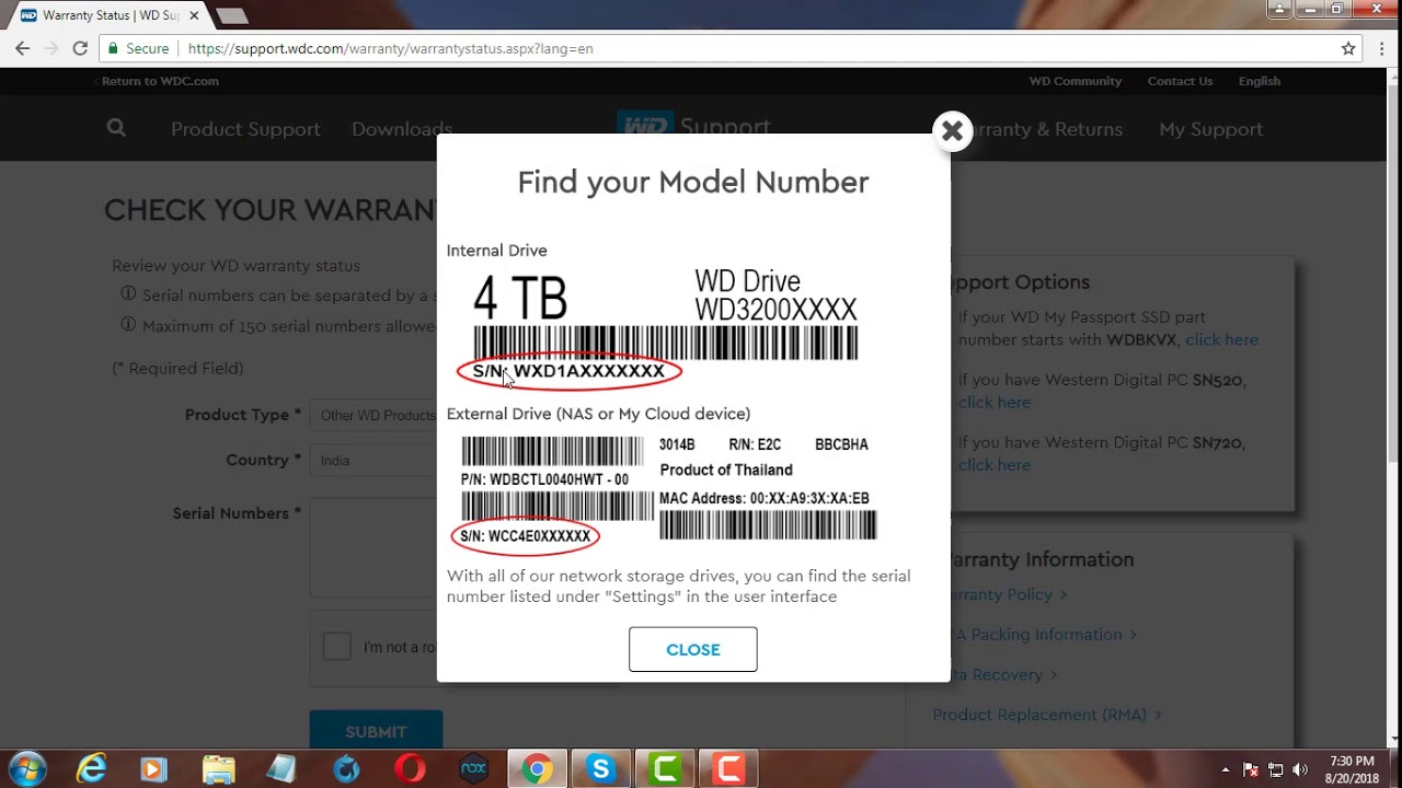 How to check Western Digital Hard Disk Warranty Status