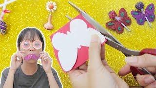 Chị Bánh Quy Hướng Dẫn Làm Đồ Chơi Bằng Kẹo Mút Kim Tuyến Siêu Dễ Thương 😍 | Kem Cam TV
