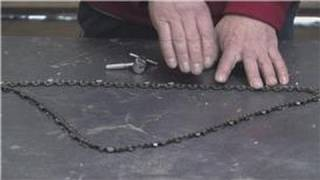 Chainsaws & Tools : How to Shorten the Chain on a Chainsaw
