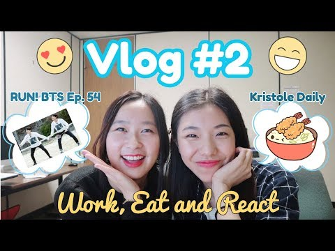 Vlog #2: Work, Eat and React I RUN! BTS Ep.54 Reaction with Japanese Vendor Food