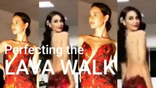 UNSEEN FOOTAGE: Catriona Gray rehearsing with her finals gown